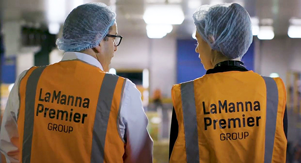 LaManna Premier Group employees in warehouse